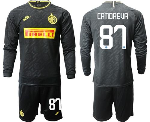 Inter Milan #87 Candreva Third Long Sleeves Soccer Club Jersey