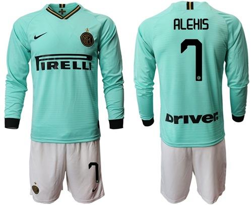 Inter Milan #7 Alexis Away Long Sleeves Soccer Club Jersey