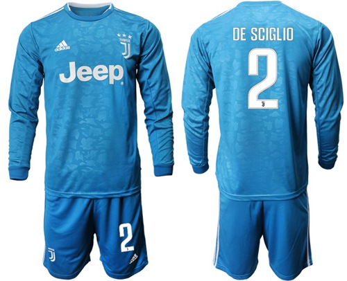Juventus #2 De Sciglio Third Long Sleeves Soccer Club Jersey
