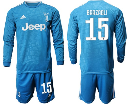 Juventus #15 Barzagli Third Long Sleeves Soccer Club Jersey