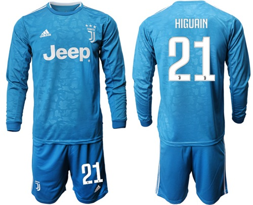 Juventus #21 Higuain Third Long Sleeves Soccer Club Jersey
