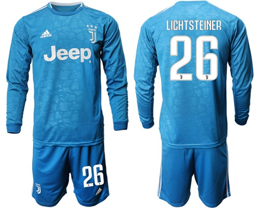 Juventus #26 Lichtsteiner Third Long Sleeves Soccer Club Jersey
