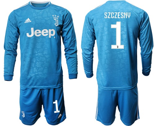 Juventus #1 Szczesny Third Long Sleeves Soccer Club Jersey