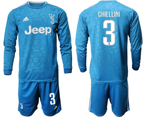 Juventus #3 Chiellini Third Long Sleeves Soccer Club Jersey