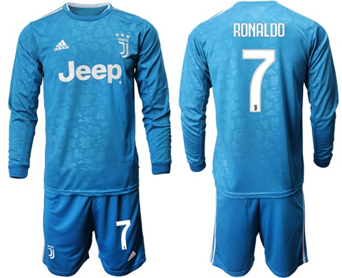 Juventus #7 Ronaldo Third Long Sleeves Soccer Club Jersey