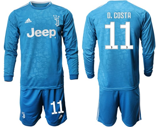 Juventus #11 D.Costa Third Long Sleeves Soccer Club Jersey