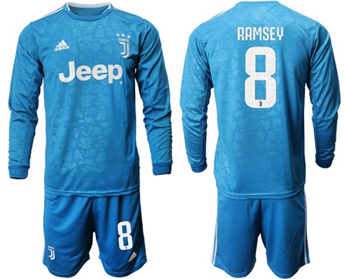 Juventus #8 Ramsey Third Long Sleeves Soccer Club Jersey