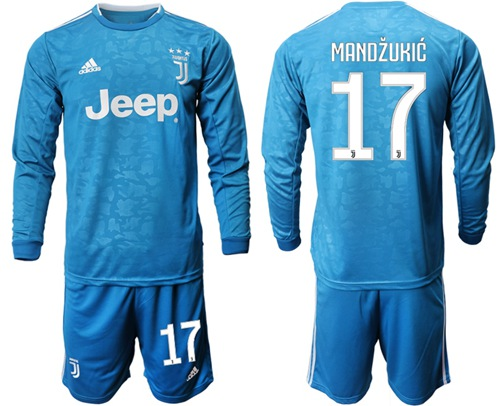 Juventus #17 Mandzukic Third Long Sleeves Soccer Club Jersey