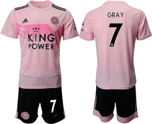 Leicester City #7 Gray Away Soccer Club Jersey