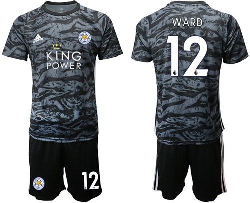 Leicester City #12 Ward Black Goalkeeper Soccer Club Jersey