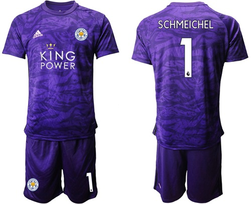 Leicester City #1 Schmeichel Purple Goalkeeper Soccer Club Jersey