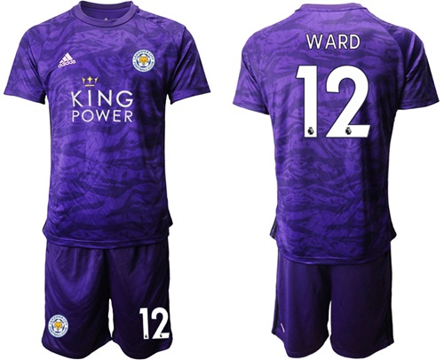 Leicester City #12 Ward Purple Goalkeeper Soccer Club Jersey