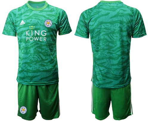 Leicester City Blank Green Goalkeeper Soccer Club Jersey