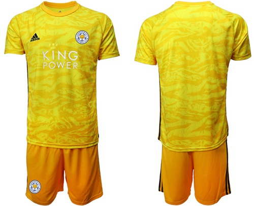 Leicester City Blank Yellow Goalkeeper Soccer Club Jersey