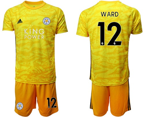 Leicester City #12 Ward Yellow Goalkeeper Soccer Club Jersey