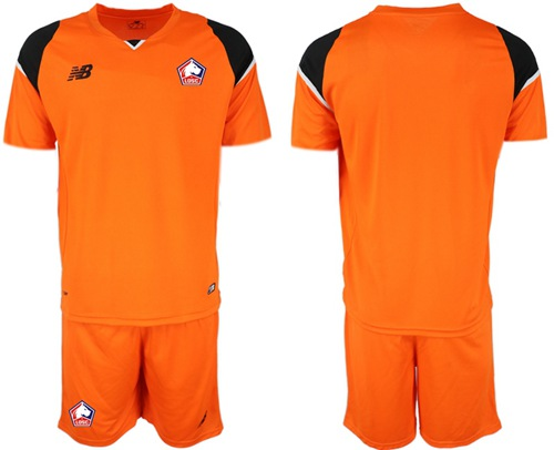 Lille Blank Orange Goalkeeper Soccer Club Jersey