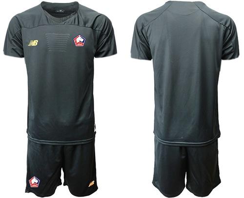 Lille Blank Black Goalkeeper Soccer Club Jersey