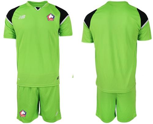 Lille Blank Green Goalkeeper Soccer Club Jersey