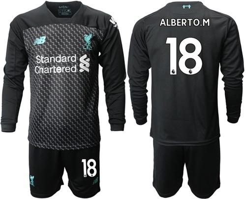 Liverpool #18 Alberto M. Third Long Sleeves Soccer Club Jersey