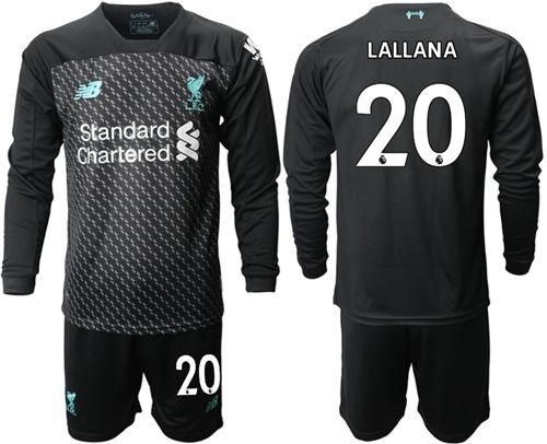 Liverpool #20 Lallana Third Long Sleeves Soccer Club Jersey