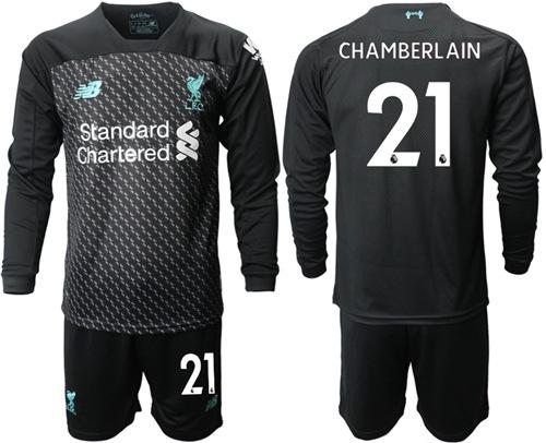 Liverpool #21 Chamberlain Third Long Sleeves Soccer Club Jersey