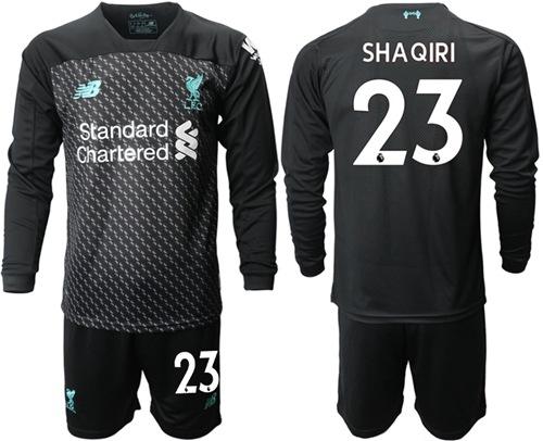 Liverpool #23 Shaqiri Third Long Sleeves Soccer Club Jersey