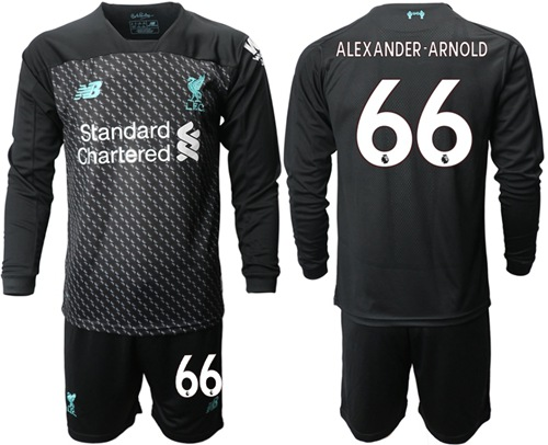 Liverpool #66 Alexander-Arnold Third Long Sleeves Soccer Club Jersey