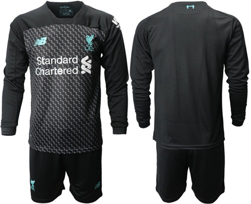 Liverpool Blank Third Long Sleeves Soccer Club Jersey
