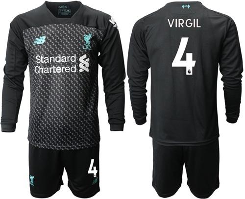 Liverpool #4 Virgil Third Long Sleeves Soccer Club Jersey