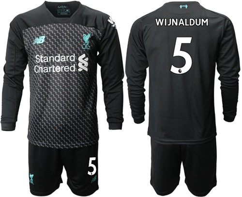 Liverpool #5 Wijnaldum Third Long Sleeves Soccer Club Jersey