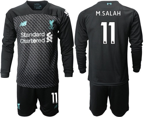 Liverpool #11 M.Salah Third Long Sleeves Soccer Club Jersey