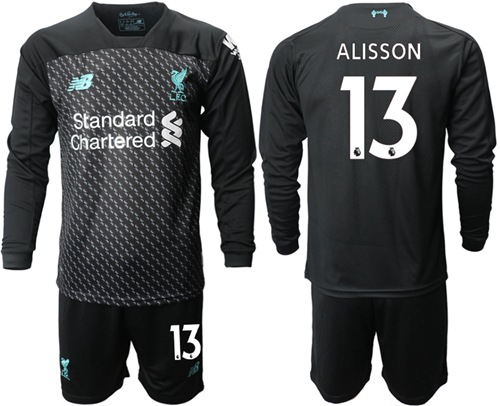 Liverpool #13 Alisson Third Long Sleeves Soccer Club Jersey