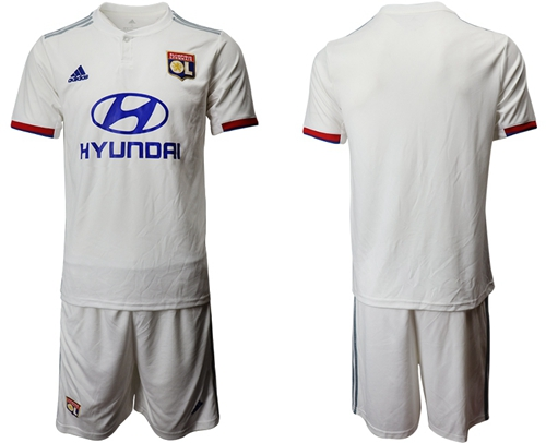 Lyon Blank Home Soccer Club Jersey