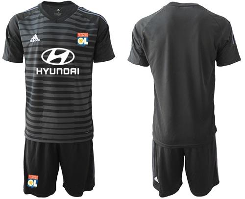 Lyon Blank Black Goalkeeper Soccer Club Jersey