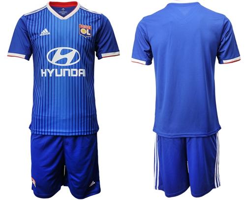 Lyon Blank Away Soccer Club Jersey