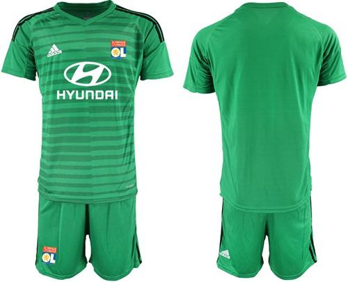 Lyon Blank Green Goalkeeper Soccer Club Jersey