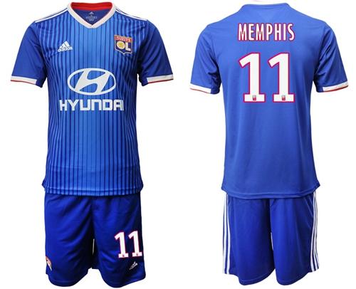 Lyon #11 Memphis Away Soccer Club Jersey