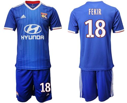 Lyon #18 Fekir Away Soccer Club Jersey
