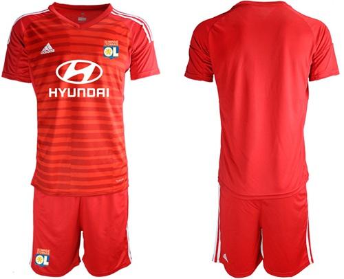Lyon Blank Red Goalkeeper Soccer Club Jersey