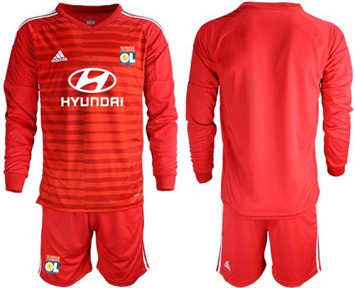 Lyon Blank Red Goalkeeper Long Sleeves Soccer Club Jersey