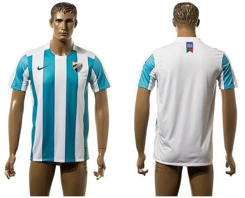 Malaga Blank Home Soccer Club Jersey