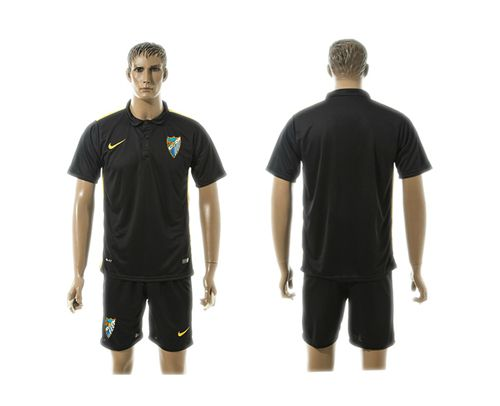 Malaga Blank Black Training Soccer Club Jersey
