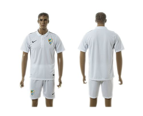 Malaga Blank White Training Soccer Club Jersey