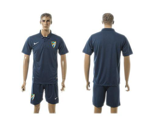 Malaga Blank Blue Training Soccer Club Jersey
