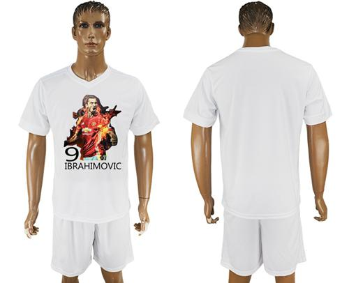 Manchester United Blank White Soccer Club T-Shirt_1