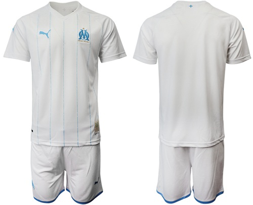 Marseille Blank Home Soccer Club Jersey