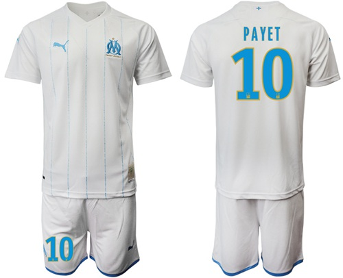Marseille #10 Payet Home Soccer Club Jersey