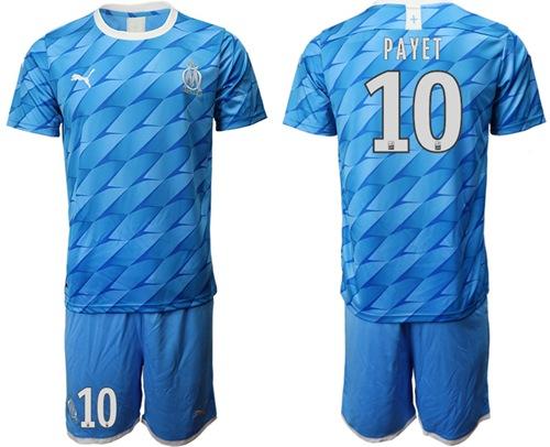 Marseille #10 Payet Away Soccer Club Jersey
