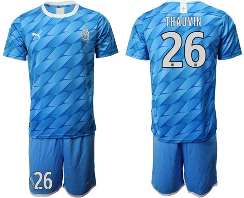 Marseille #26 Thauvin Away Soccer Club Jersey
