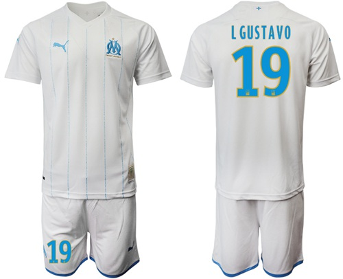 Marseille #19 L Gustavo Home Soccer Club Jersey